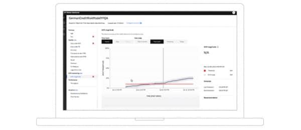 Screenshot showing Watson OpenScale AI mode drift detection