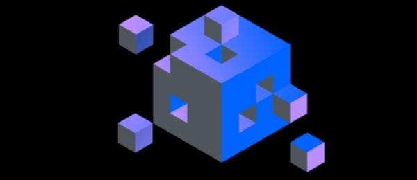 Interlocking cubes forming a larger cube