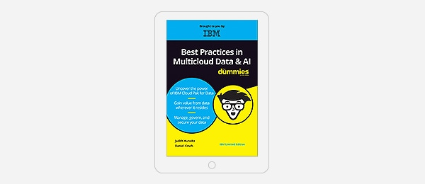 Cover of Best Practices in Multicloud Data & AI for Dummies book