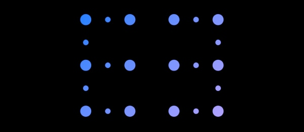 dots pattern with black background